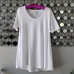 LuLaRoe White Perfect T EUC